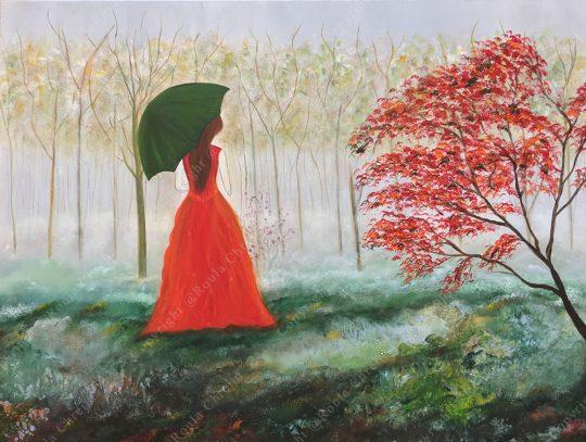 Love Beyond Seasons Acrylic on Canvas 75x100cm