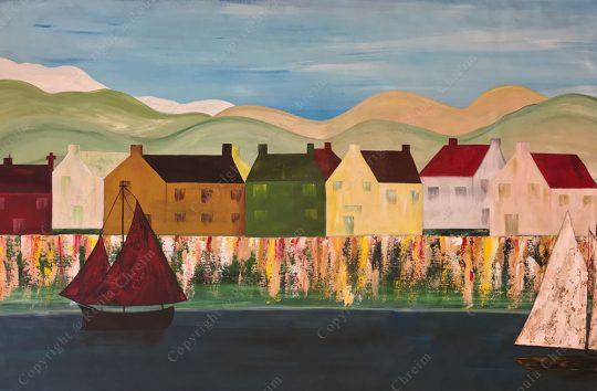 Sails, Acrylic on Canvas, 110x130cm