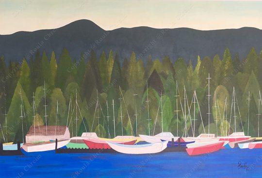 Vancouver, Acrylic on Canvas, 110x150cm